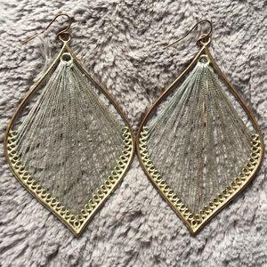 Silver Boho Metallic Dangle Earrings